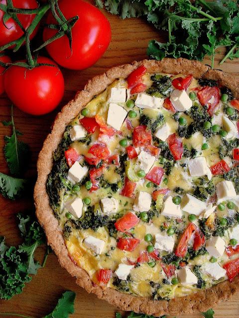 Tarta z warzywami i fetą / Vegetable Feta Tart