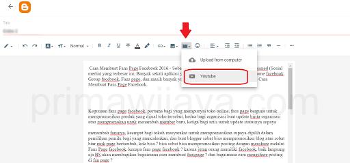 Cara Memasang Video YouTube di Artikel Blogger untuk Pemula