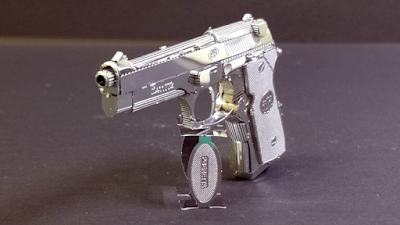 3d Metal earth gun