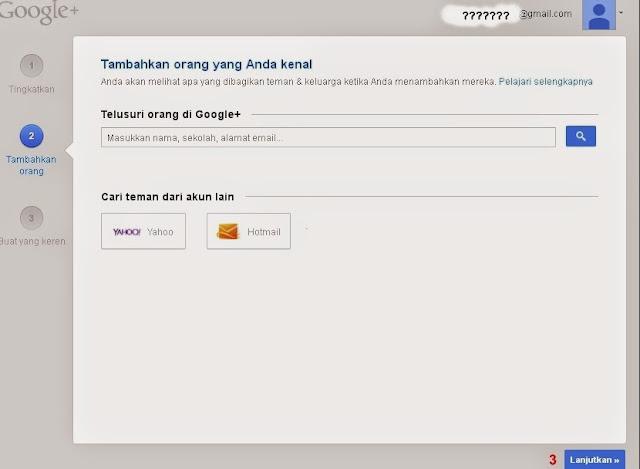 Langkah Selanjutnya Pengaturan Profil Google+