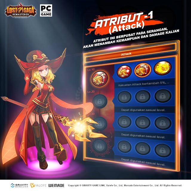 Atribut Attack Lost Saga Remastered