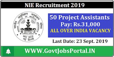 NIE Recruitment 2019