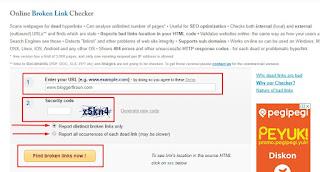 Pastikan mengisi kolom isian dengan benar agar brokenlinkcheck.com dapat digunakan dengan baik