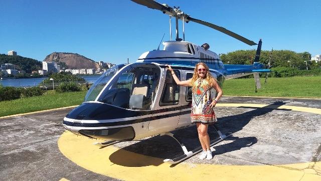 Após o voo de helicóptero pela Helisight