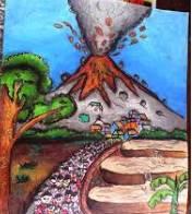 Contoh Gambar Bercerita Tema Kebudayaan, Tempat Umum, Bencana Alam, Kesetiakawanan Sosial FLS2N