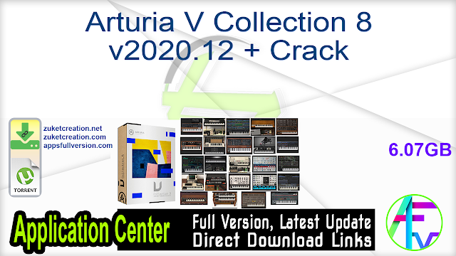 Arturia V Collection 8 v2020.12 + Crack