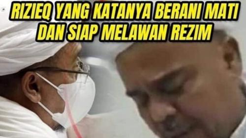 Serang Rizieq, Netizen: Katanya Siap Mati, Pledoi Malah Nangis Curhat