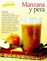 Jugos saludables manzana y pera