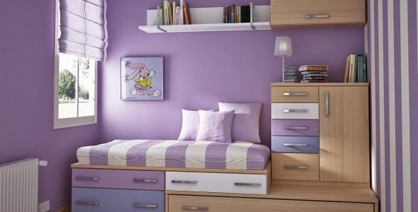 dormitorio de chica color lila