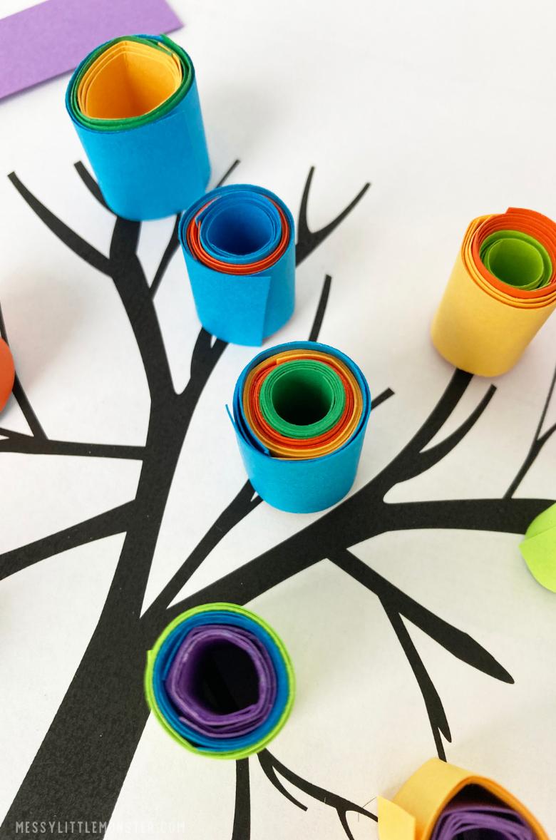 Kandinsky tree art project