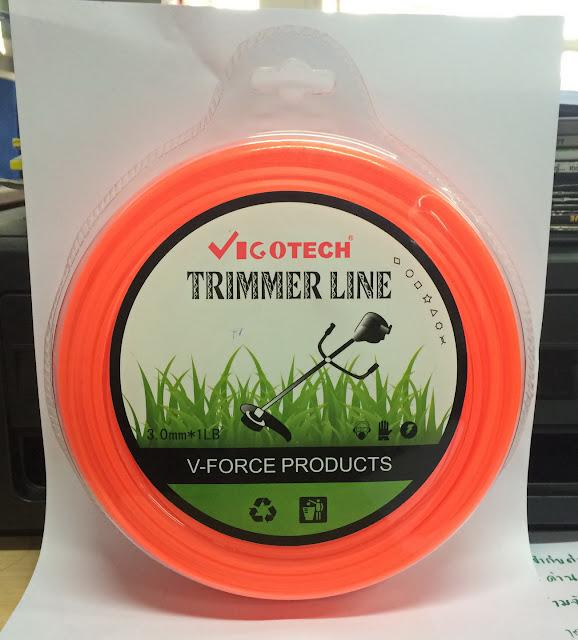 เอ็นตัดหญ้า แบบเหลี่ยม 3.0 มิล 45 เมตร (สีส้ม) ราคาถูก