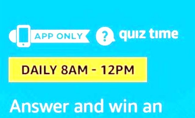 Amazon Quiz 21 August 2019 Answer
