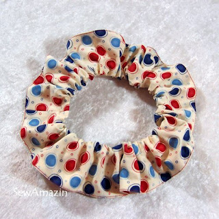 Patriotic Pup Dog Scrunchie Neck Ruffles