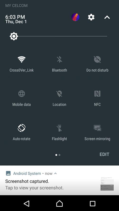 Xperia XZ Android 7.0 Nougat