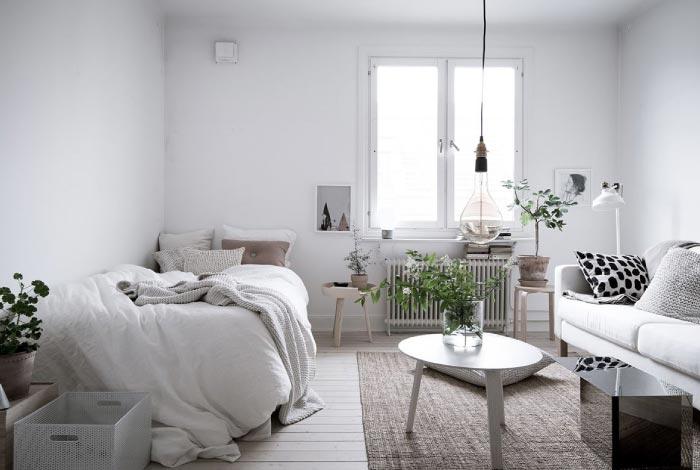 appartamento scandinavo ricco di luce e tocchi green blog di arredamento e interni dettagli. Black Bedroom Furniture Sets. Home Design Ideas