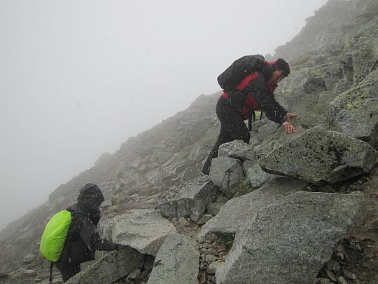 Końcowa wspinaczka na szczyt.