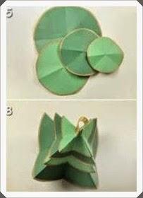 Renkli Kartondan Çam Ağacı Yapımı, Resimli Açıklamalı   2