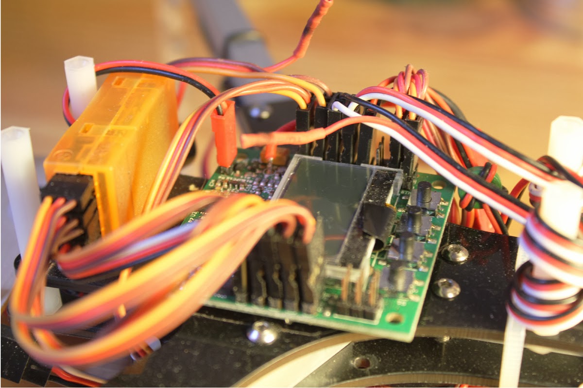 medium resolution of the kk2 0 board installed with all the wires