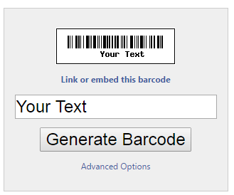 How to Generate Barcode or QR Code with your Text/Url