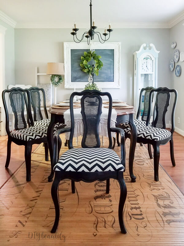 How to Easily Reupholster Dining Seat Cushions | DIY ...