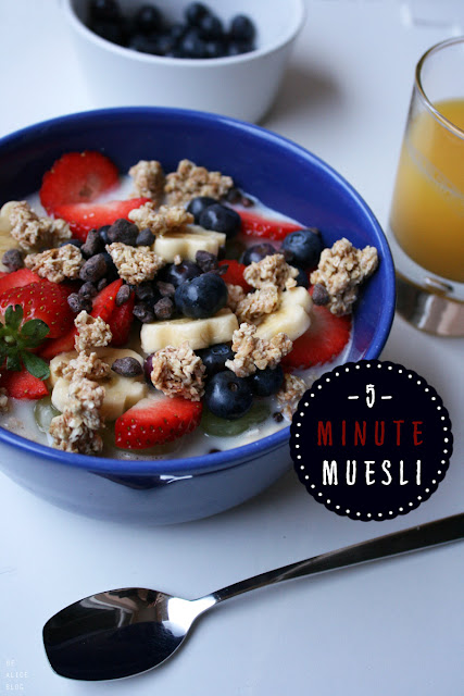 muesli, breakfast, oats, granola, strawberries, fruits, quick, vegan
