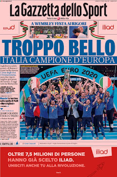 """E io c'ero : """"Campione d'Europa - 11 luglio 2021"""""""