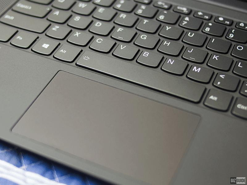 The keyboard and trackpad are comfortable to use