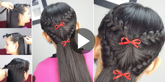 Learn - How To Make This Quick And Easy Braided Hairstyle, See Tutorial