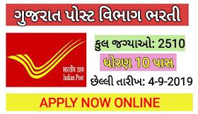 Gujarat Post Recruitment 2019