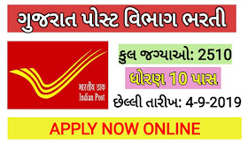 Gujarat Post Recruitment 2019