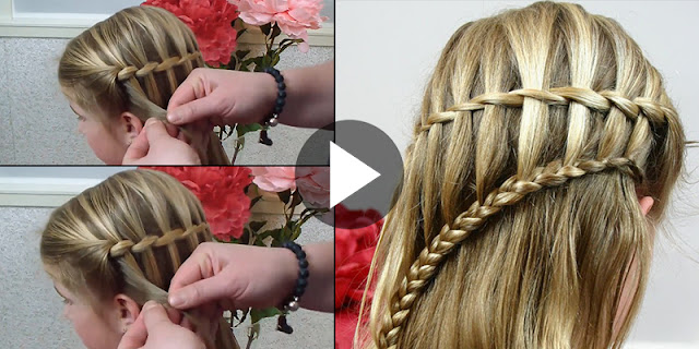 Learn - How To Make Quick And Easy Ladder Waterfall Braid Hairstyle, See Tutorial