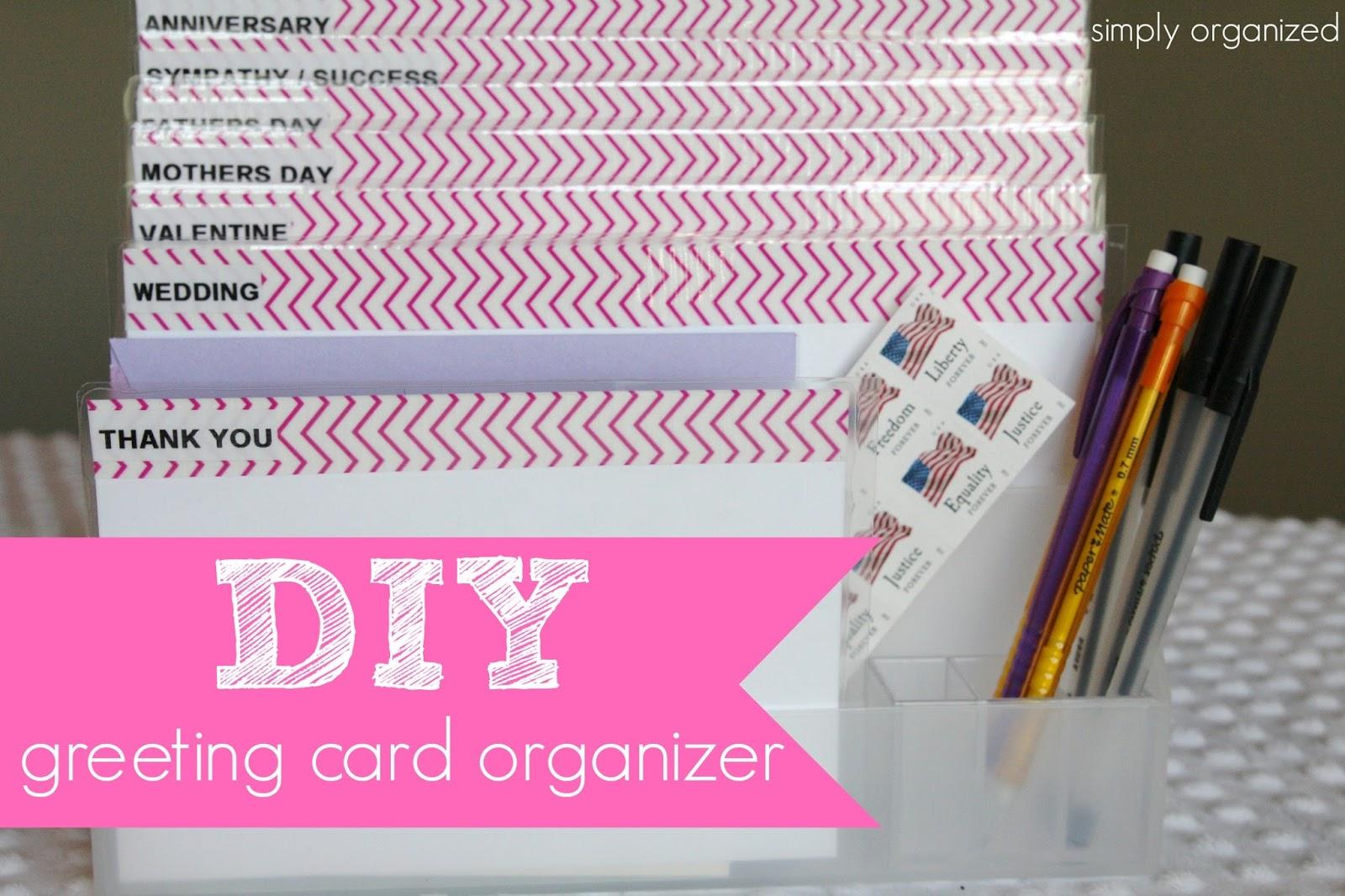 DIY: greeting card organizer - simply organized