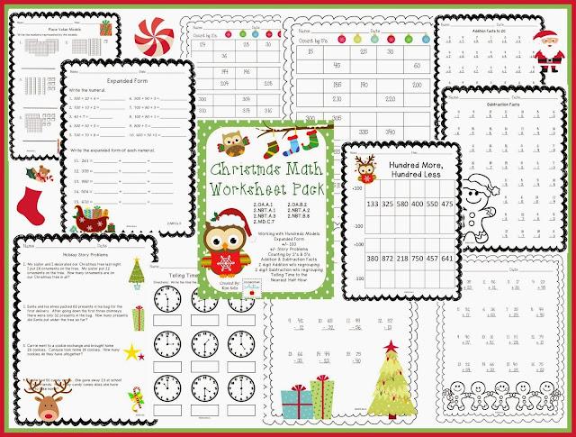 http://www.teacherspayteachers.com/Product/Christmas-Math-Worksheet-Pack-978383