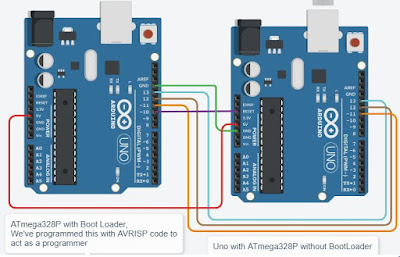 Burn Bootloader using two Arduino Boards