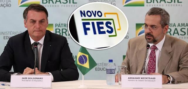 Governo Bolsonaro vai acionar na Justiça mais de 580 mil estudantes devedores do Fies