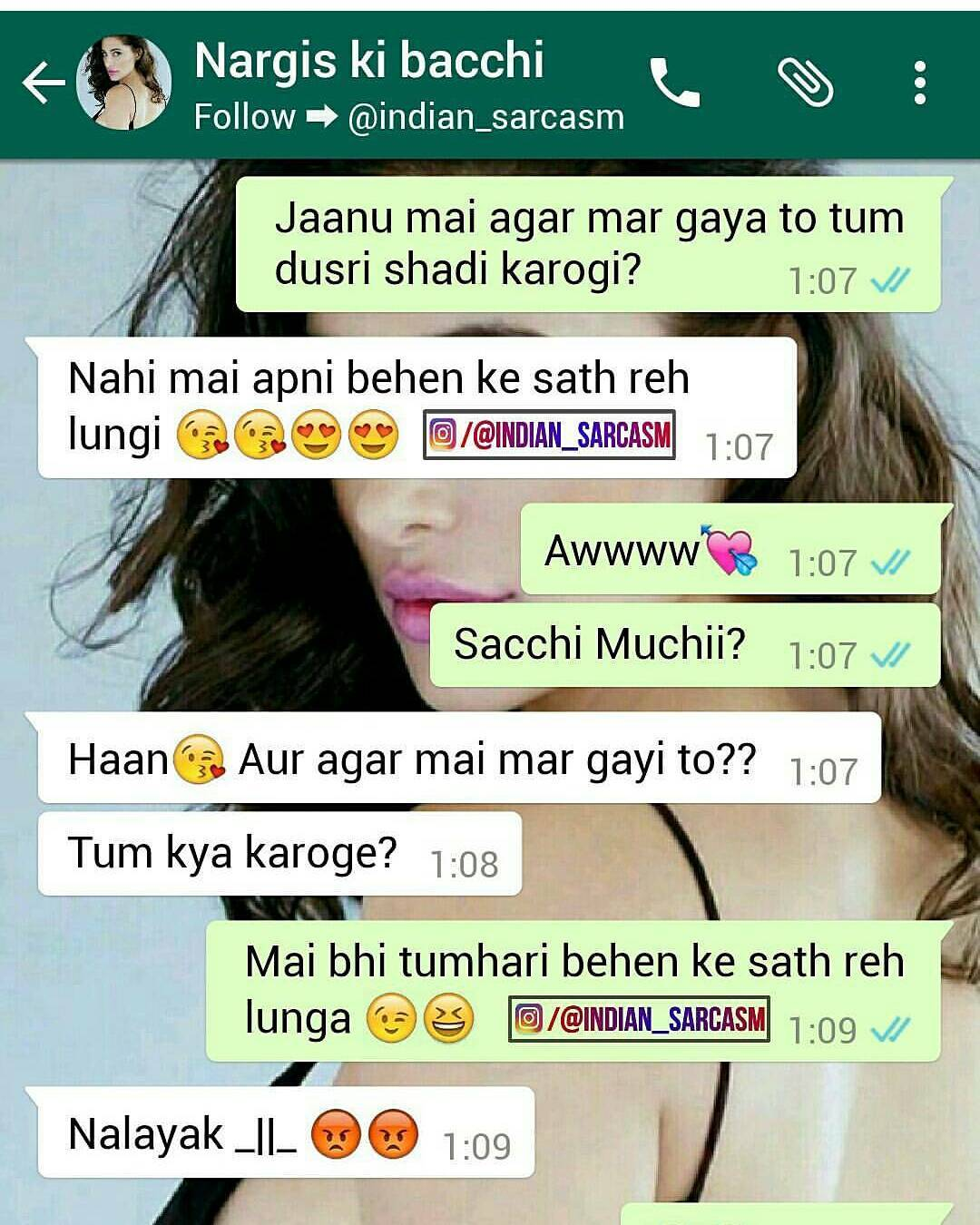 Funny Chats On Whatsapp Hindi  Urdu-6752