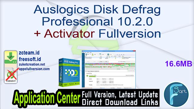 Auslogics Disk Defrag Professional 10.2.0 + Activator Fullversion