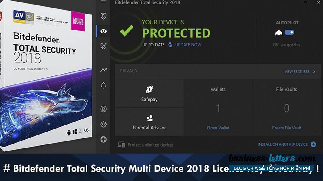 How to get the Bitdefender Total Security 2018 key copyright 1 year