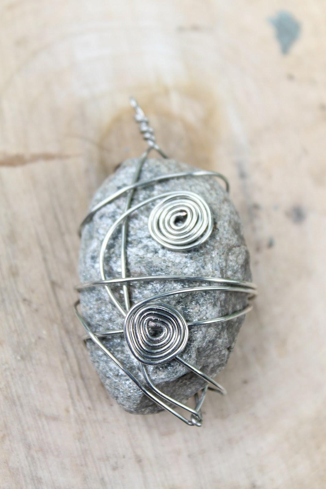 Diy Souvenirs Wire Wrapped Stone Pendants Do Small