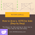 How to draw a KITE for kids (Step by Step):
