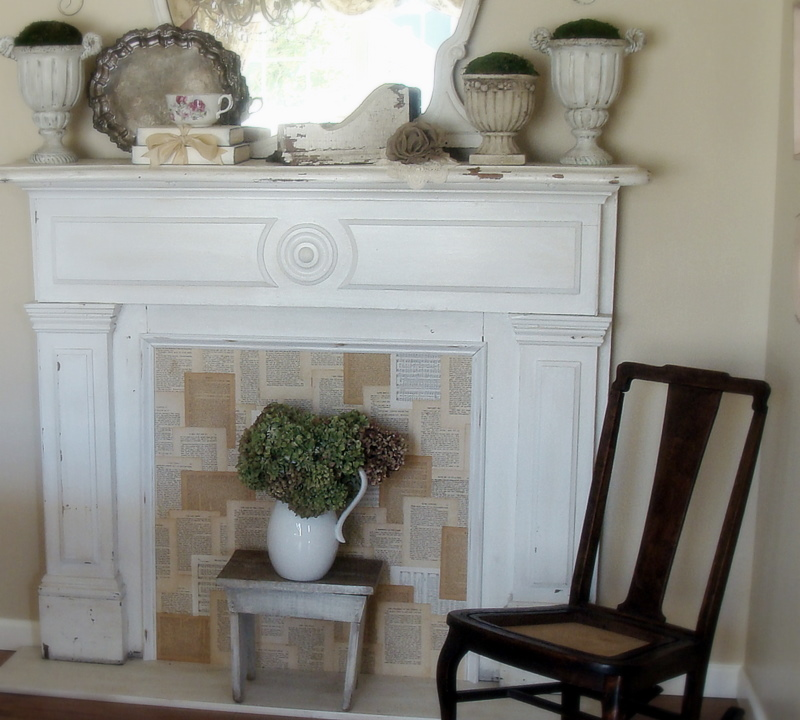 ohgraciepie: Faux Fireplace Mantels