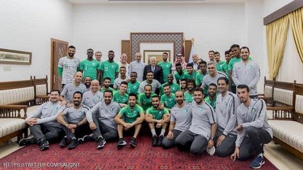 المنتخب السعودي يزور المسجد الأقصى