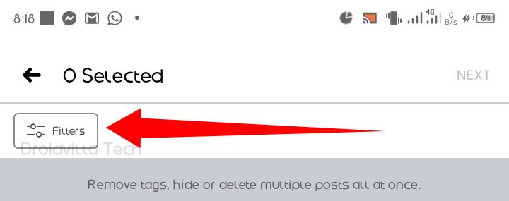Untag tagged Facebook post