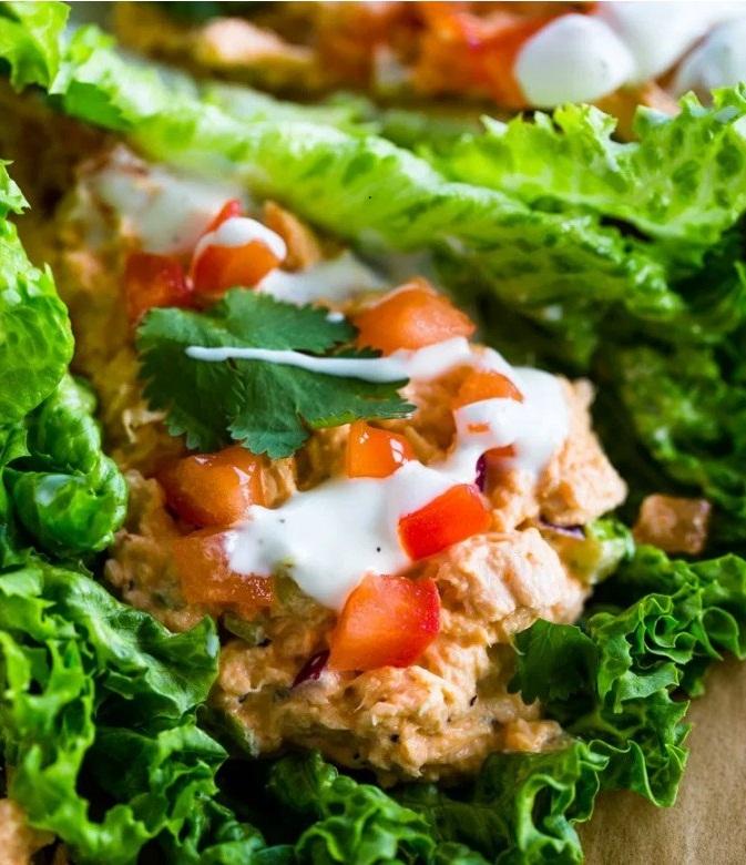 Keto Spicy Sriracha Tuna Lettuce Wraps