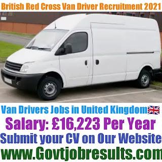 British Red Cross Van Driver Recruitment 2021-22