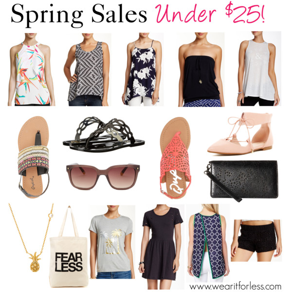 """Qupid Embroidered & Beaded Sandals • Charlotte Russe • $20 Worthington Woven Tier Tank Top - Petite • $19.99 Macbeth Collection Printed Front Tank • $24.97 Peach Love California Floral Print Blouse • $24.97 Fossil Women's Square Sunglasses • Fossil • $24.97 Macbeth Collection Classic Tube Top • $19.97 Fergalicious Glam • Fergalicious • $20.99 RVCA Ampersand Tank • RVCA • $14.97 Macbeth Collection Crocheted Lace Short • $24.97 Qupid Laser Cut Slingback Sandals • Charlotte Russe • $15 Jessica McClintock Cassie on the Go Wallet • Jessica McClintock • $24.99 Volcom Cowl Me Dress • Volcom • $19.97 """"Rebellious One Juniors' Colorblocked Football T-Shirt"""" • $19.99 Macbeth Collection Palm Trees Graphic Tee • $19.97 Dogeared Fear Less Tote • Dogeared • $15.97 Lord & Taylor Sterling Silver Pineapple Pendant Necklace • Lord & Taylor • $18 Classic Links Flyaway Tank • Charming charlie • $16.99 Athena Footwear Lauren Ankle Cuff Flat • $19.97"""