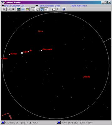 Himalia in SkyTools chart