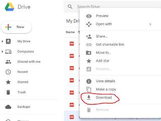 cara download file didalam google drive