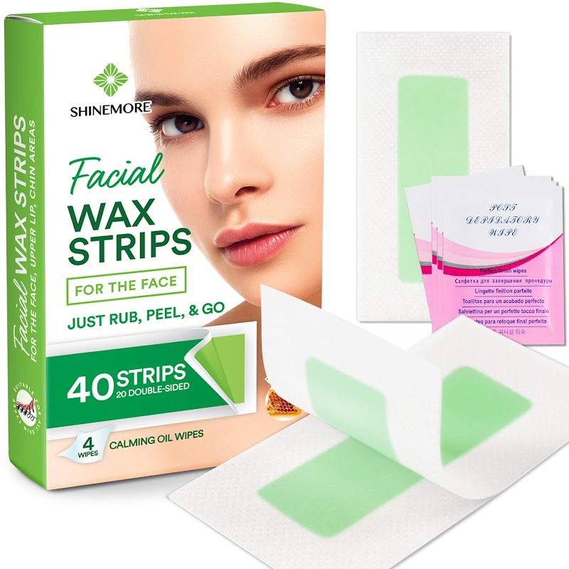 40% OFF Facial Wax Strips by ShineMore