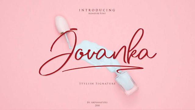 Free Jovanka Script Font